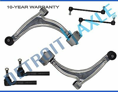 6pc Front Lower Control Arm Ball Joint Tierod Sway Bar for Chevy Malibu G6 Aura