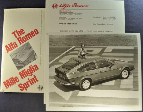 1980 Alfa Romeo Mille Miglia Sprint Coupe Press Release Kit Excellent Original