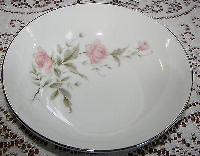"""Vintage Barker Bros. Japan 6 1/4"""" Soup Bowl Pink Flowers 63-5827"""