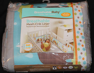 BreathableBaby Breathable Mesh Crib Liner Best Friends Jungle Animals