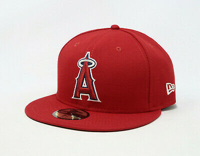 New Era 59Fifty Hat Mens MLB Los Angeles Angels of Anaheim 2018 GM Fitted Cap 59fifty Mens Fitted Hat Cap
