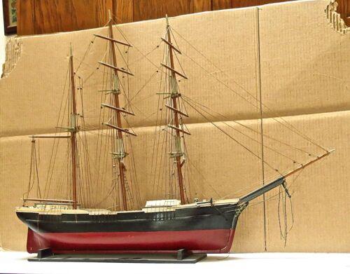 VINTAGE SHIP MODEL OF 3 MASTED BARQUE