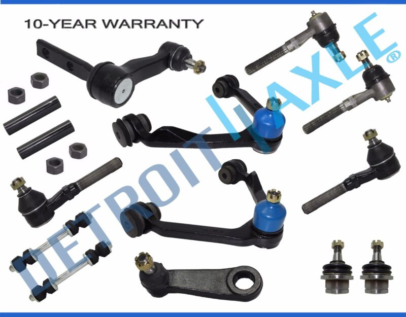 Ford F-150 Expedition 4WD 14pc Front Upper Control Arm Idler Sway Bar Tierod Kit