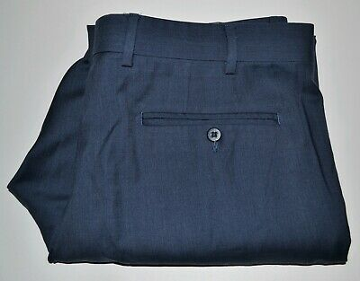 Zanella Devon Dress Pants Size 34x30 Super 120's Flat Front Cuffed Made in Italy Cuffed Dress Pants