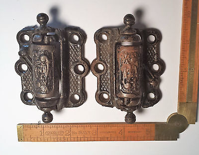 Pair Vintage Geneva Screen Door hinges - Victorian