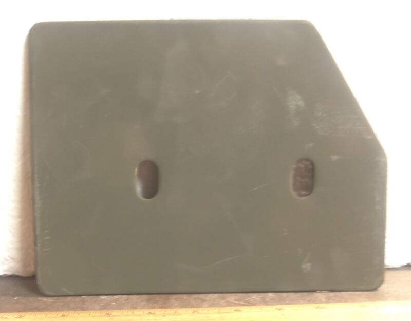 Anzelc Welding & Fabricating – Steel Armor Plate / Bracket - P/N: 12352559 (NOS)