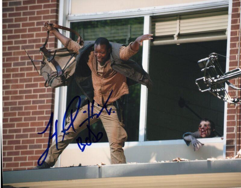 Lawrence Gilliard The Walking Dead Bob Stookey Signed 8x10 Photo w/COA #1