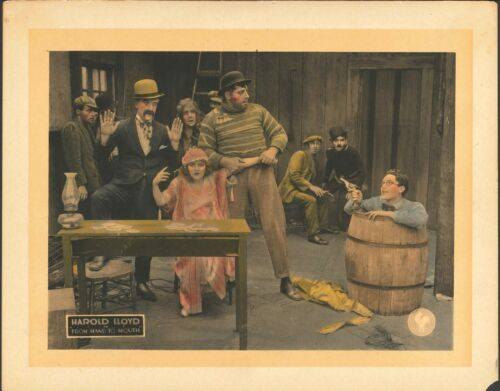 FROM HAND TO MOUTH 1919 HAROLD LLOYD ORIGINAL VINTAGE LOBBY CARD RARE!