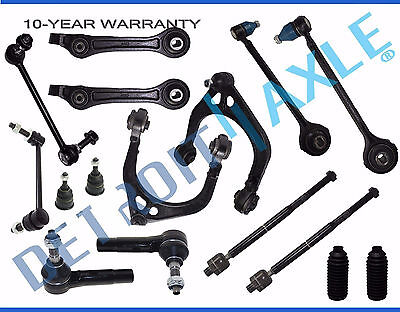 - 16pc 2005-10 Dodge Charger Magnum 300 Upper Lower Control Arm Ball joint Tierod