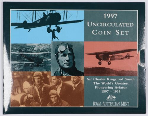 1997 Australia Uncirculated Set Sir Charles Kingford Smith
