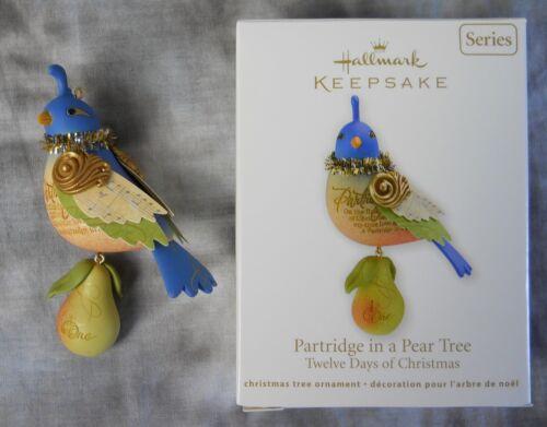 Hallmark Keepsake Ornament PARTRIDGE IN A PEAR TREE, 12 DAYS OF CHRISTMAS 1st #1