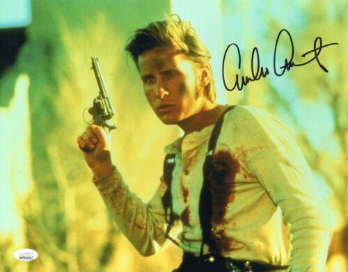 """Emilio Estevez Autograph Signed 11x14 Photo -Young Guns """"Billy the Kid""""(JSA COA)"""