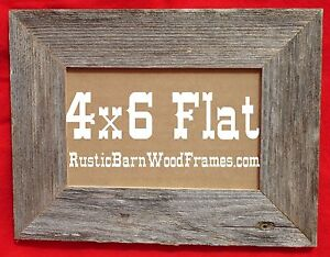 4x6 Flat photo unfinished weathered rustic barnwood barn wood aged picture frame