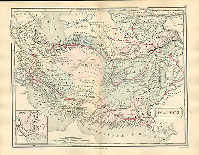 antient geography map by samuel butler 1869 -  oriens