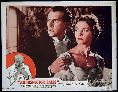 AN INSPECTOR CALLS 1954 Alastair Sim, Brian Worth, Jane Wenham LOBBY CARD #2