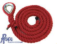 24mm Rojo Algodón Natural Gimnasio/cuerda Para Escalar X 4 Metros Con - natura - ebay.es
