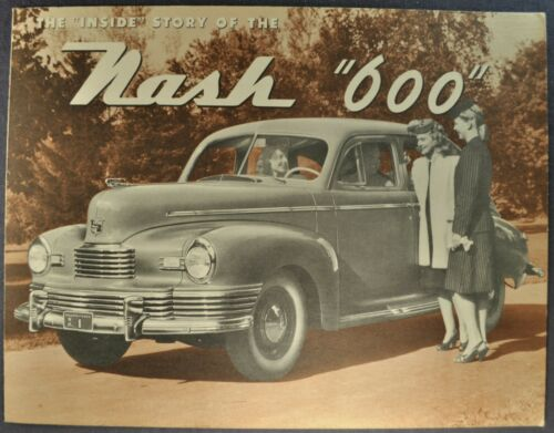 1946 Nash 600 Sedan Sales Brochure Folder Excellent Original 46