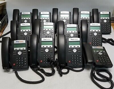 Lot Of 13 Polycom Soundpoint Ip 335 Voip Phones W Handset And Stands