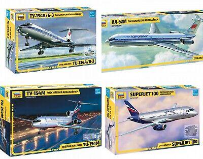 ZVEZDA Soviet / Russian Civil Airliners Plastic Model Kits Scale 1:144