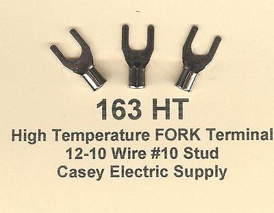 100 High Temperature Fork Spade Terminal Connector 12-10 Wire Gauge 10 Stud 900