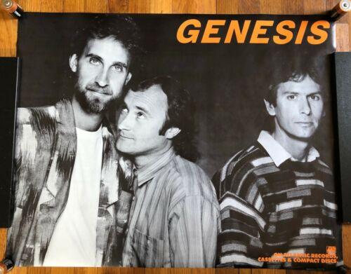 Genesis (band shot) RARE original promo poster Atlantic records