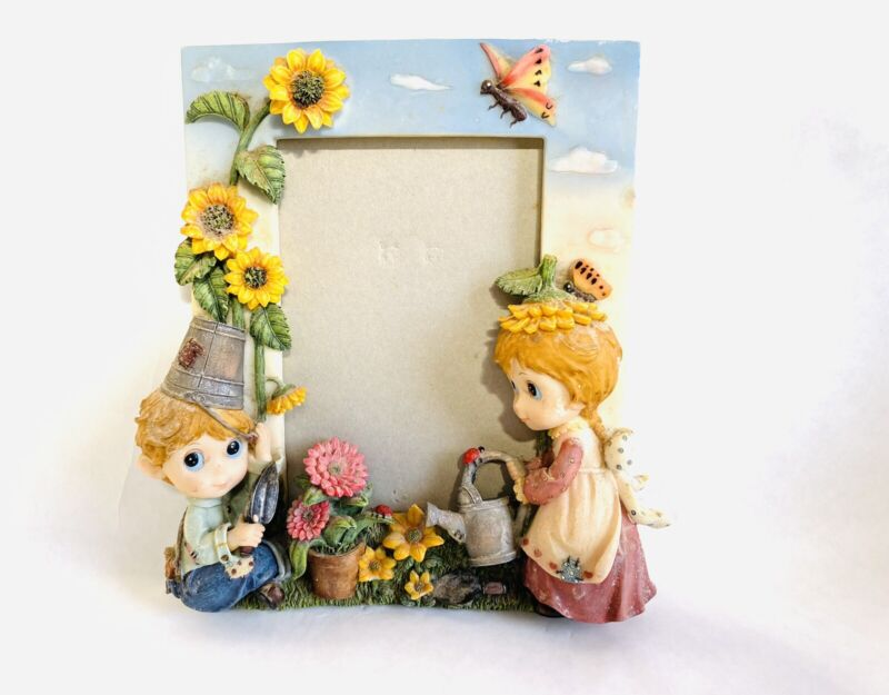 Picture Frame Montefiori Collection Italy Des. 5x7 Sunflower Butterfly Boy Girl