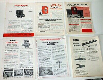6 Original Lincoln Welder Brochures Ac 180 Dc 200 Lj-1 Cable Shield Arc Sae