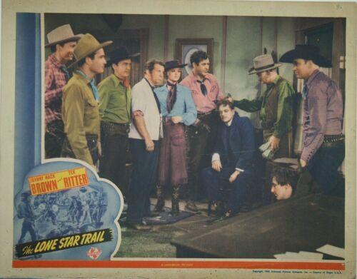 Vtg Lobby Card, The Lone Star Trail, Johnny Mack Brown 1943, Univ of Alabama