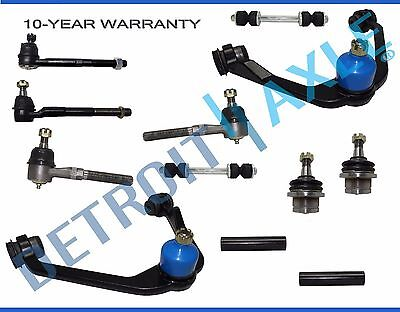 12pc Front Upper Control Arm Lower Ball Joint Tierod Ford F-150 Expedition