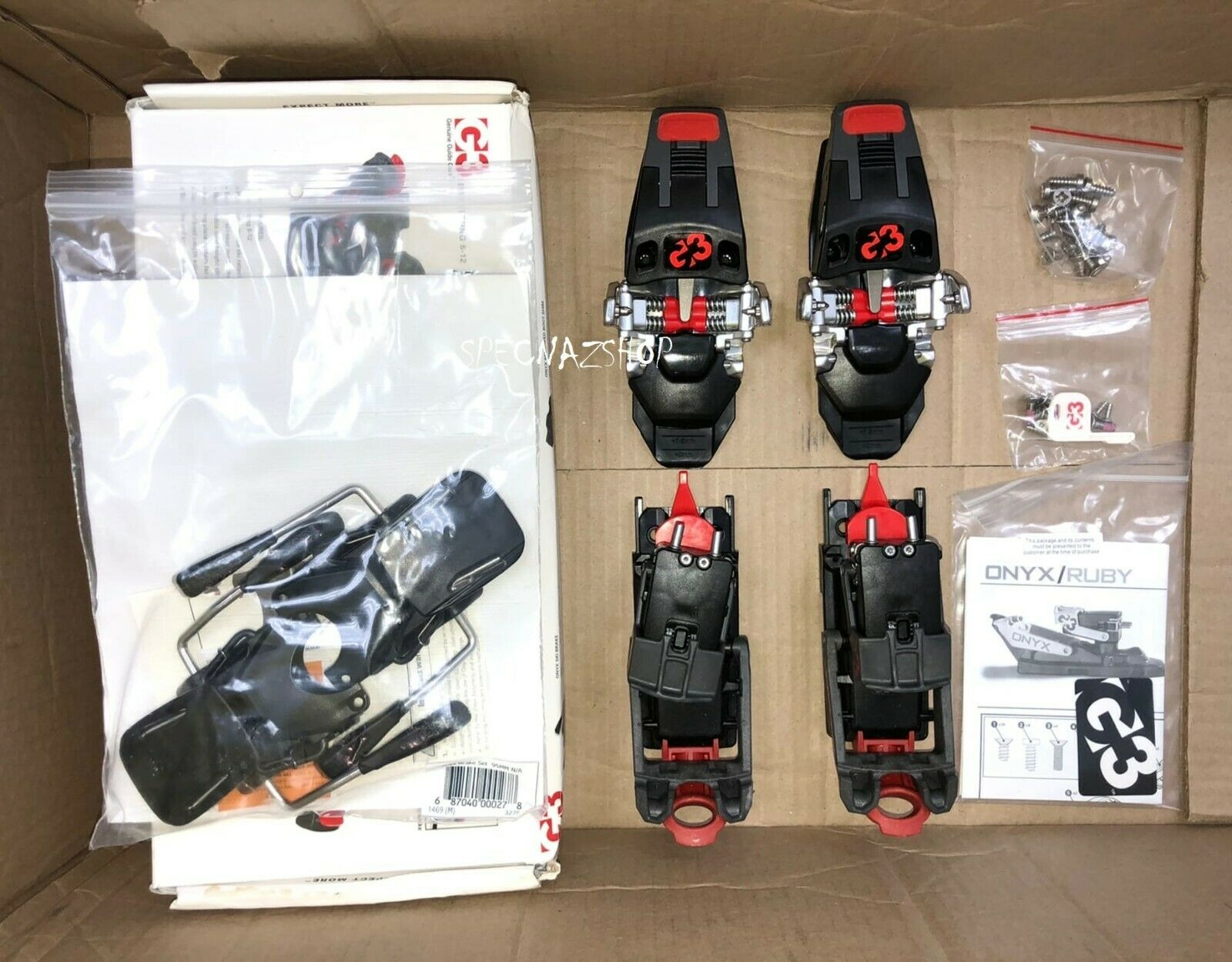 как выглядит G3 Onyx Alpine Touring Bindings with 95mm Ski Breaks from Genuine Guide Gear фото
