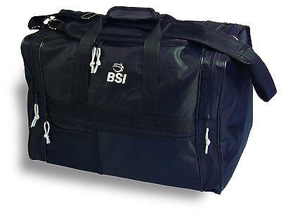 55c3aa9b12 BSI Pro Double Bag 2 Ball Bowling Bag Black