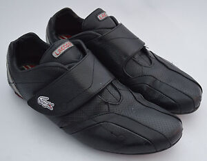 Men's Black & Red Lacoste Sport, Protect Pit, Leather Trainers Size Uk 8.