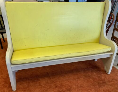 Pew style bench, vintage