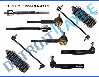 Rear Tie Bar - NEW 10pc Front & Rear Sway Bar + Tie Rod & Boot Kit for 2006 - 2015 Toyota RAV4