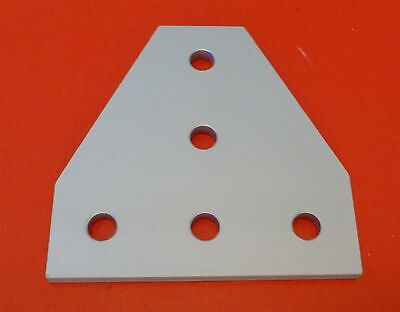 8020 8020 Equivalent Aluminum 5 Hole Tee Joining Plate 15 Series Pn 4340 New