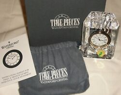 Waterford Crystal Ireland Time Pieces Small Desk Clock ~ New In Box ~