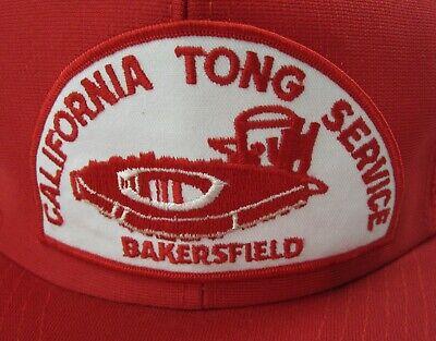 Vtg Oil Well Drilling Rig Ca Tong Service Bakersfield Snapback Mesh Trucker Hat