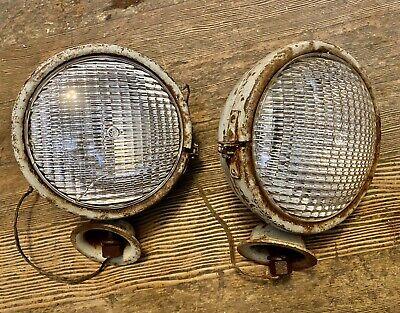 Original 8n 9 N Ford Tractor Headlight Set X2