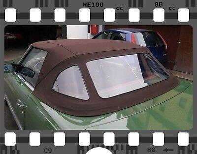 Mercedes SL R107 Verdeck Neu! Sonnenlandstoff in Braun! TOP QUALITÄT!