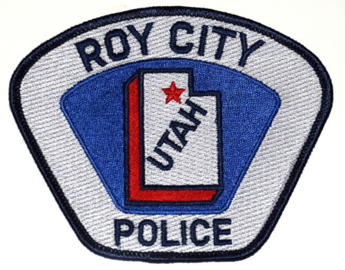 ROY CITY UTAH UT Police Sheriff Patch STATE SHAPE OUTLINE CITY STAR ~