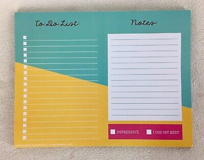 To Do Desk Planner Note Pad Day Organizer Shopping Check List 9.75x7.5 2021