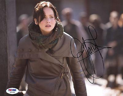 Jennifer Lawrence Signed 8X10 Psa Dna Coa Photo Auto Autograph Autographed Psa 5
