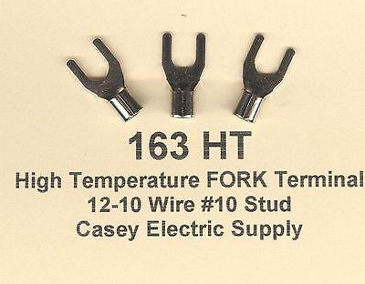 50 High Temperature Fork Spade Terminal Connector 12-10 Wire Gauge 10 Stud 900
