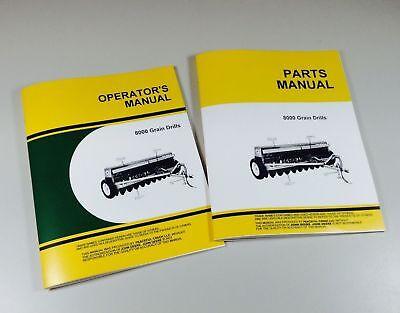 Operators Parts Manuals For John Deere 8000 8250 8350 Grain Drills Owner Catalog