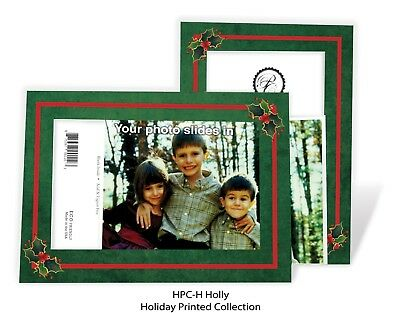 Holly - 4x6 Photo Insert Note Cards - 24 Pack by Plymouth - 4x6 Photo Insert Christmas Cards
