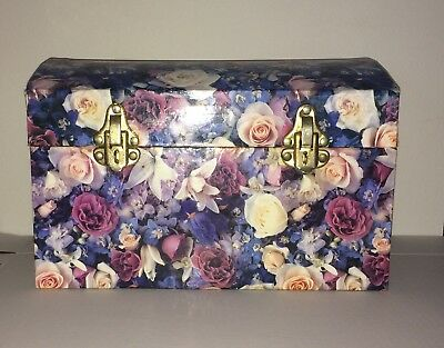 Vintage Flowered Storage Trunk Large