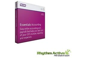 MYOB ESSENTIALS ACCOUNTING SOFTWARE 1-PAYROLL/1-YEAR SUBSCRIPTION BOXED LICENSE