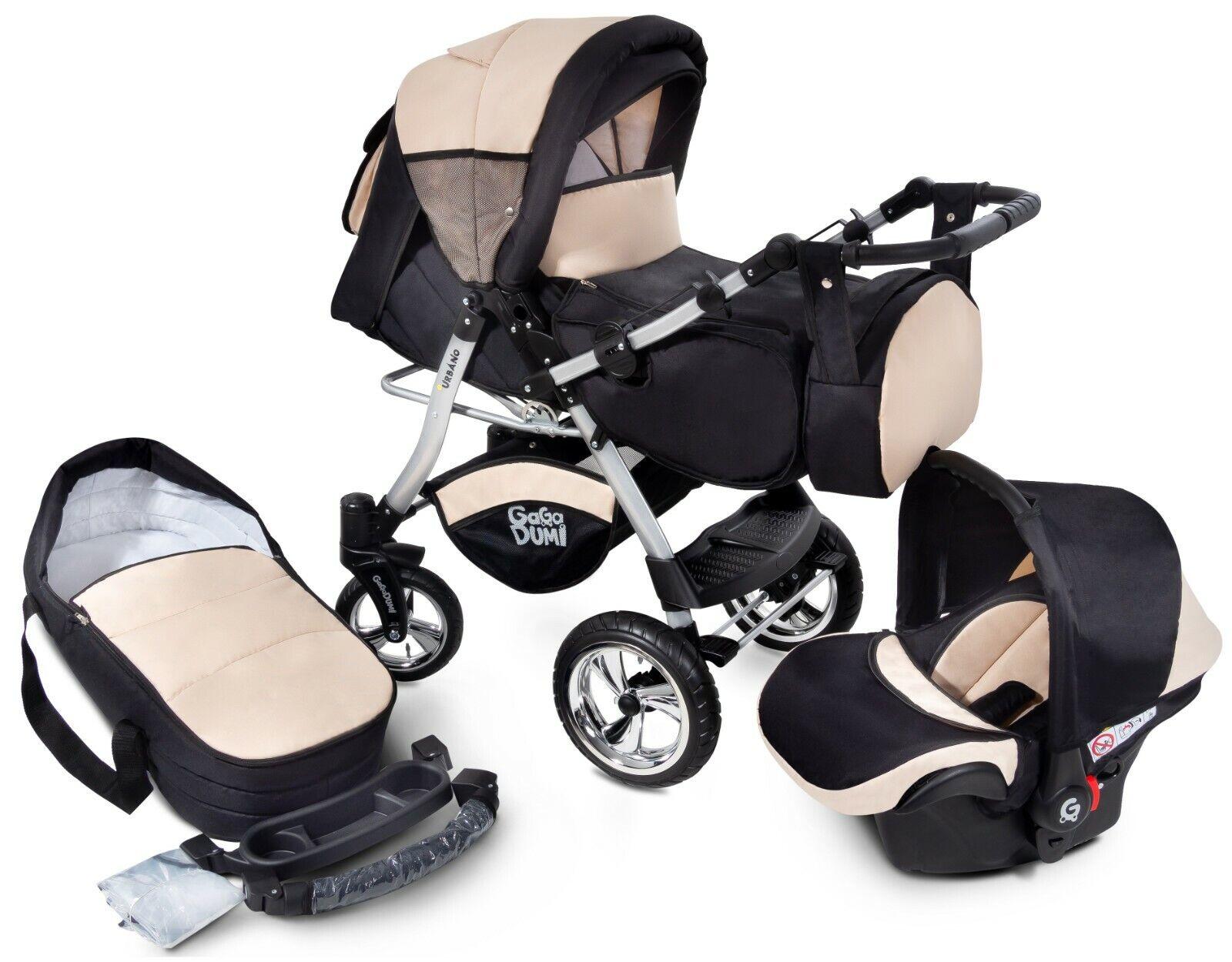 Urbano  Kombikinderwagen Kinderwagen Babyschale 3in1 System Autositz 20% SALE