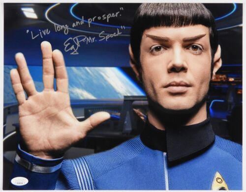Star Trek Discovery JSA Ethan Peck Spock Autograph Signed 11 x14 photo