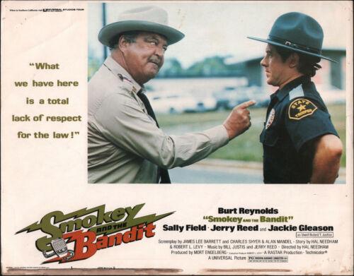 SMOKEY AND THE BANDIT 11x14 JACKIE GLEASON original 1977 lobby card movie poster